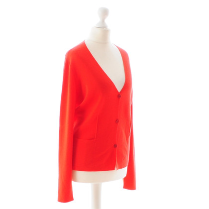 Jil Sander Red Cardigan