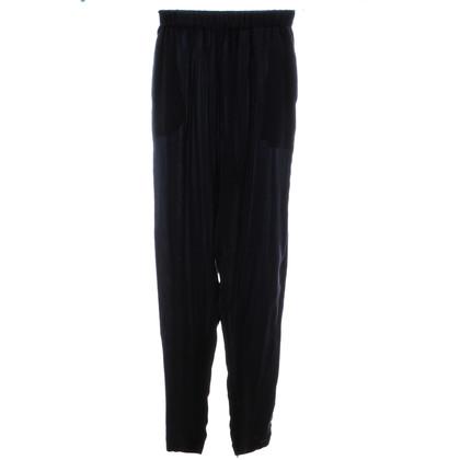 Lanvin Pantaloni di seta blu