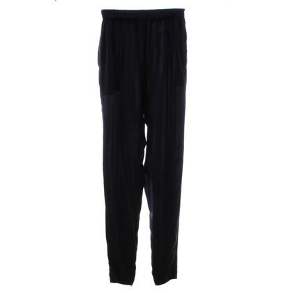 Lanvin Blauwe zijde broek