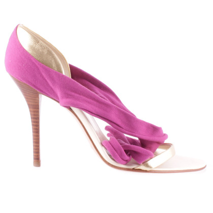 Helmut Lang High heels in gold purple