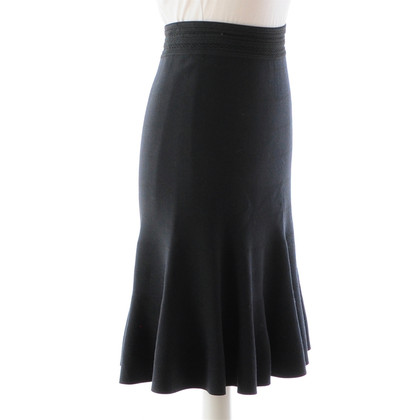 Alaïa Grey knit skirt