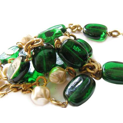 Chanel CHANEL GRIPOIX necklace - large Glasmaragden and Borockperlen