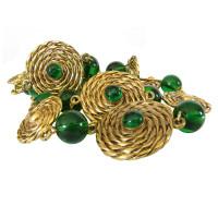 Chanel ~ Parisian glamour ~ vintage CHANEL - medallions & green GRIPOIX necklace Sautoir - 121 cm