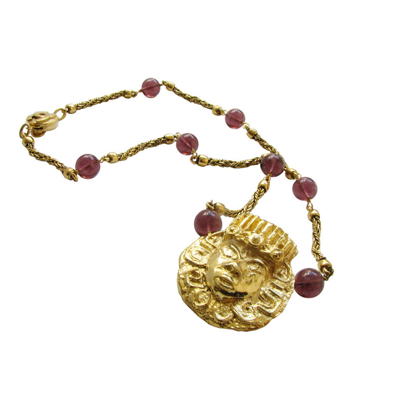 Chanel CHANEL Gripoix necklace with Egyptian accents - Egyptian revival