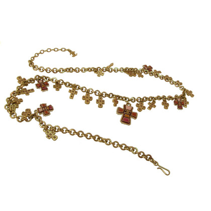 Chanel Vintage necklace of CHANEL gold with 28 Maltese crosses