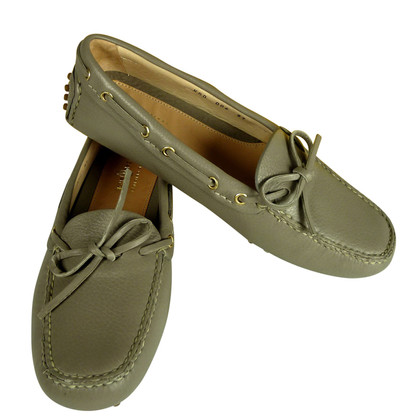 Car Shoe New loafers from precious deerskin in the color of taupe 229