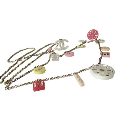 Chanel chain belt belt / chain - pastel - many Swarovski pendant
