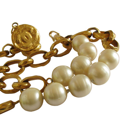Chanel Vintage CHANEL chain belt - Sautoir - string of pearls - GRIPOIX Baroque pearls