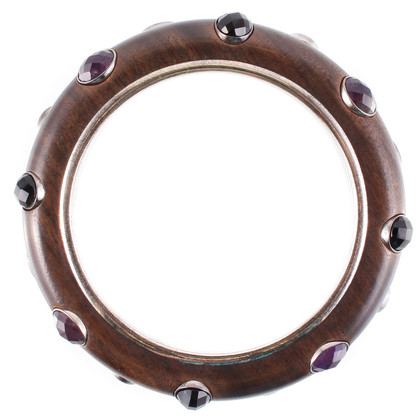 Bottega Veneta Wooden bracelet with semi-precious stones