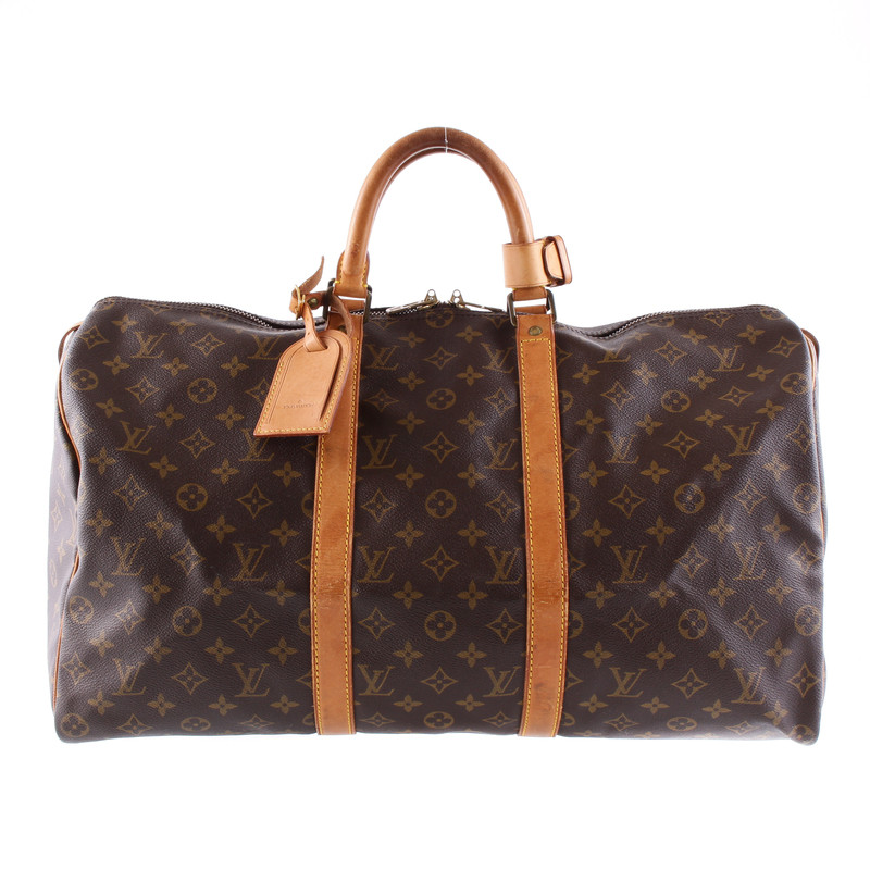 louis vuitton keepall 50 monogram of canvas vintage pure buy second hand louis vuitton. Black Bedroom Furniture Sets. Home Design Ideas