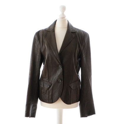 Ambiente Green leather Blazer