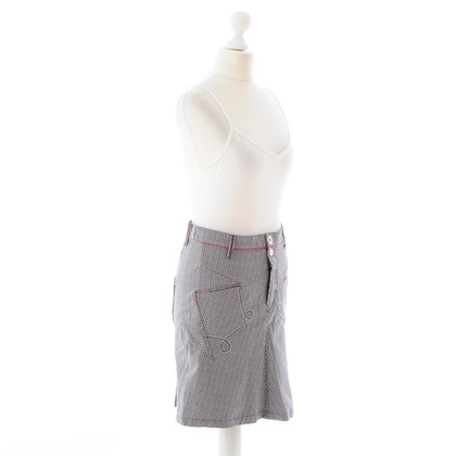 Marithé et Francois Girbaud Plaid skirt