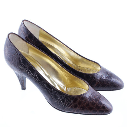René Caovilla Dark brown pumps