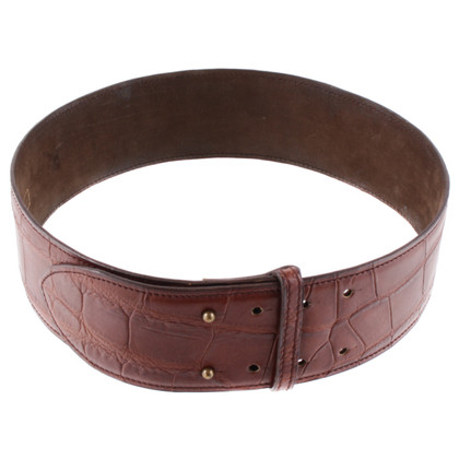 Alaïa Wide leather belt