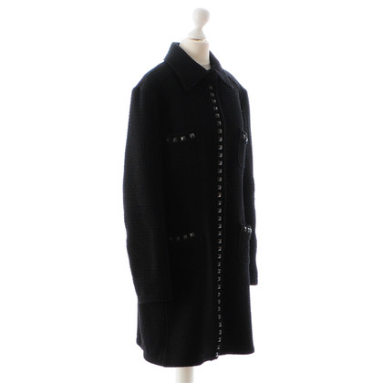 Moschino Black coat with rivets