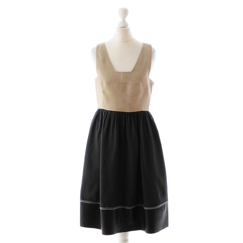 Derek Lam Beige black dress