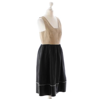 Derek Lam Beige-schwarzes Kleid