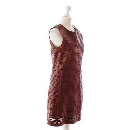 Balenciaga Reddish brown leather dress
