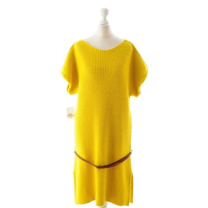 Hermès Geel brei jurk