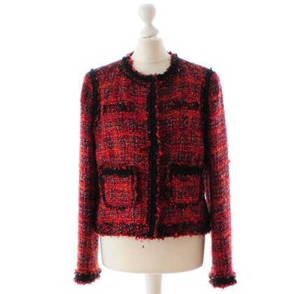 Other Designer Pamela Henson red Bouclé jacket