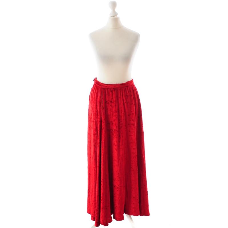 Saint Laurent Red Velvet skirt