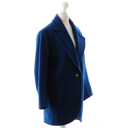Yves Saint Laurent Petrolfarbener wool coat