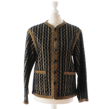 Yves Saint Laurent Black jacket with embroidery