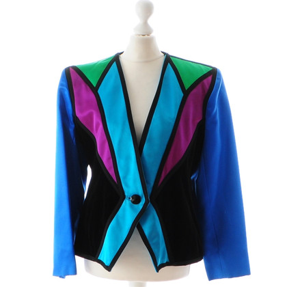 Yves Saint Laurent Evening jacket satin blue violet green