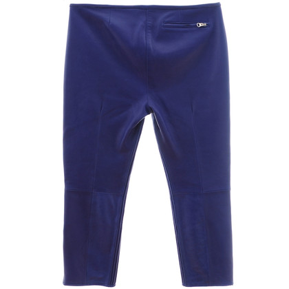 Acne Lederen broek Royal Blue