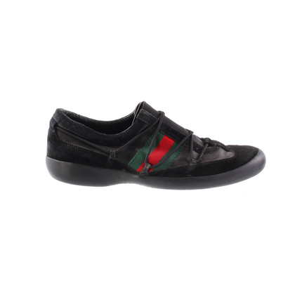 Gucci Sneaker black fabric pennant