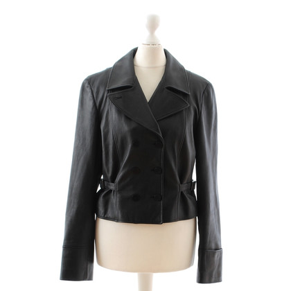 Armani Collezioni Black leather jacket