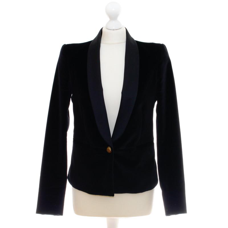 rich royal blazer en velours avec bouton or acheter. Black Bedroom Furniture Sets. Home Design Ideas