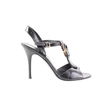 Fendi Patent sandals with Leo buckle