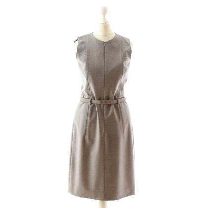 Akris Abito grigio in lana con cintura