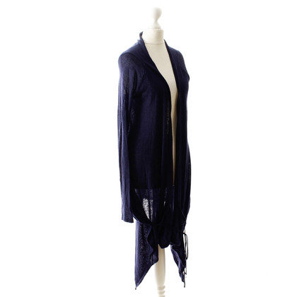 Patrizia Pepe Wrap Cardigan in Midnight Blue