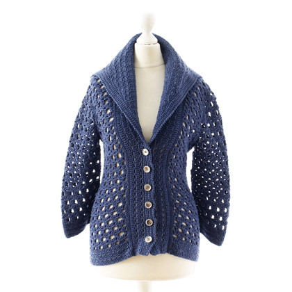 Catherine Malandrino Blaue Strickjacke