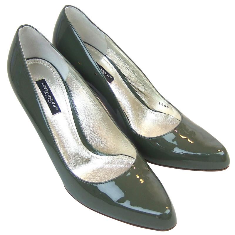 dolce gabbana pumps high heels lackleder petrol gr n. Black Bedroom Furniture Sets. Home Design Ideas