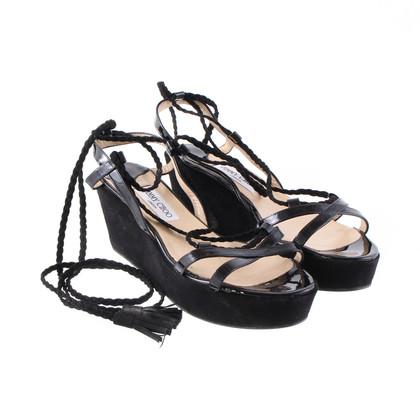 Jimmy Choo Black plateau sandals