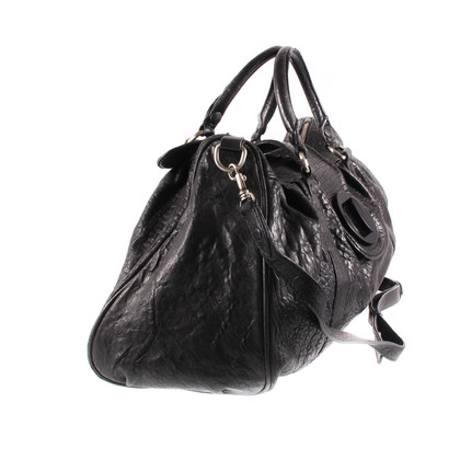 Hoss Intropia Black leather bag