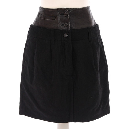 Wunderkind Skirt with leather collar