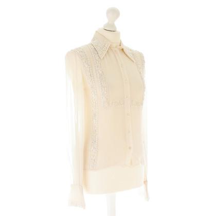 Valentino Embroidered silk blouse