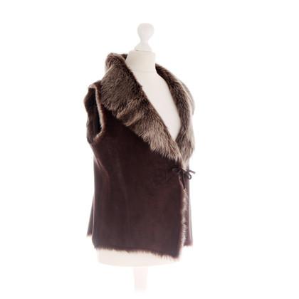 Altre marche Furry - gilet in marrone scuro