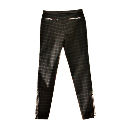 Elizabeth & James Plaid trousers with leather details