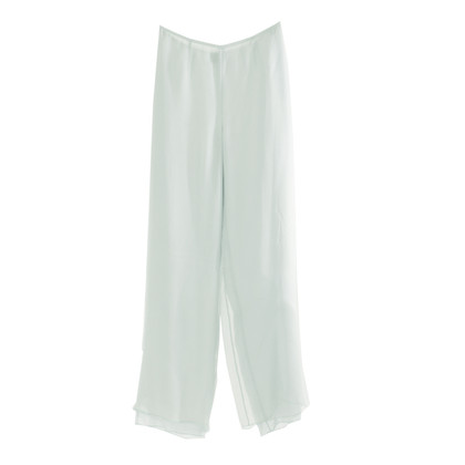 Giorgio Armani Wide trousers in ice blue