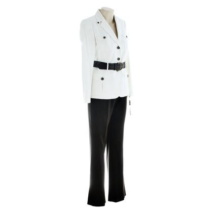 Tahari Anzug Weiß Braun