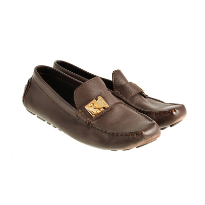 Louis Vuitton Loafer with gold detail