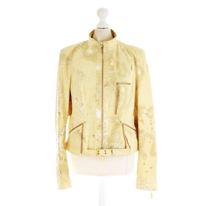 Roberto Cavalli Jacket with print and glitter