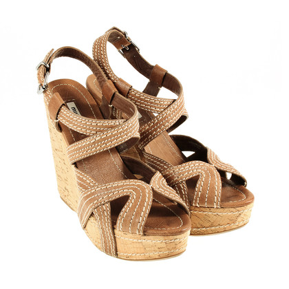 Miu Miu Cork heel wedges