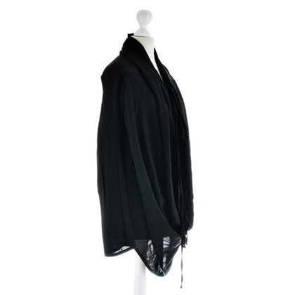 Ann Demeulemeester Wickel-Top in Schwarz