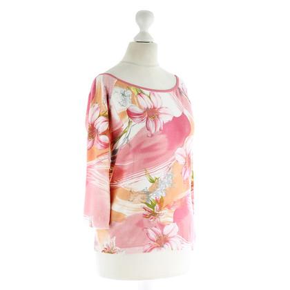 Blumarine Top met florale motief